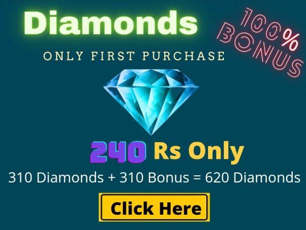 Top Up 310 Diamonds + 310 Bonus = 620 💎
