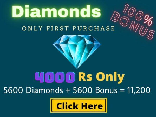 Top Up 5600 Diamonds + 5600 Bonus = 11,200 💎